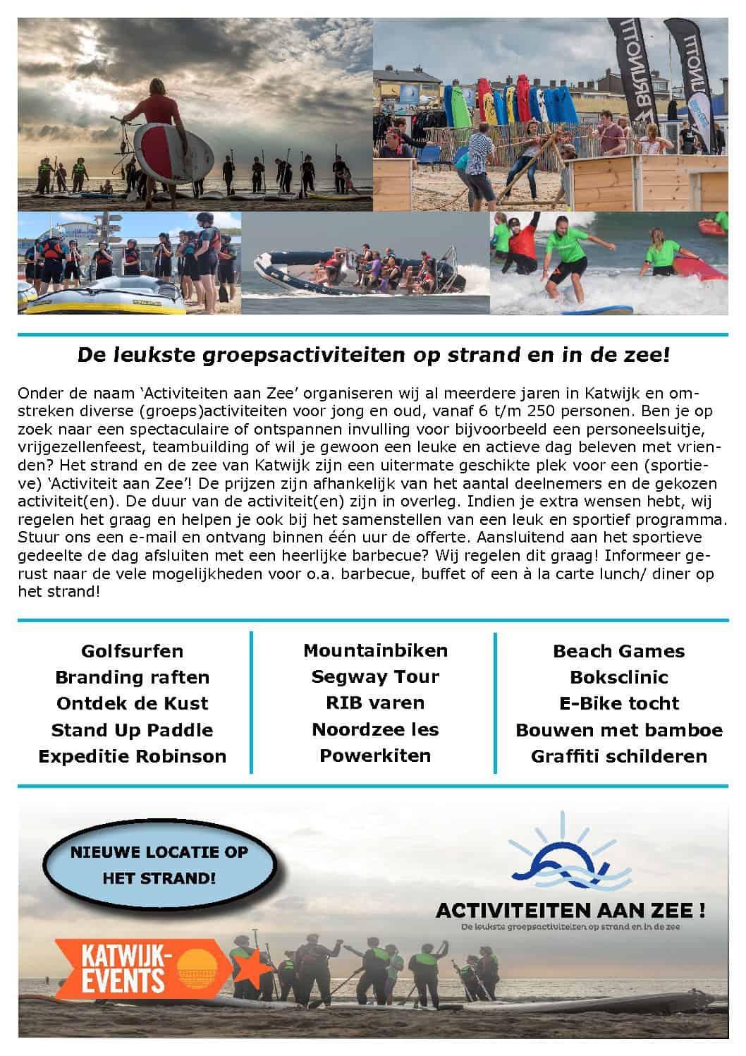 Activiteiten Flyer 2018 Katwijk-Events